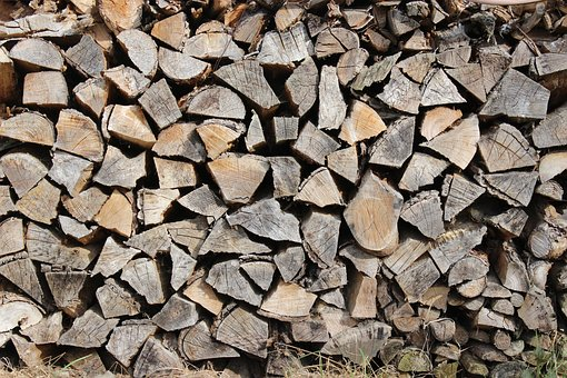 Wood, Log, Firewood, Growing Stock, Heat, Stacked Up