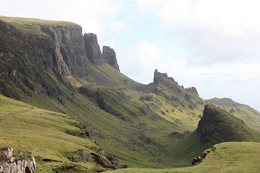 Scotland, Isle Of Skye, Quiraing, Highlands, Solitary
