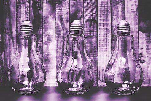 Glasses, Light Bulb, Storage, Decoration, Idea