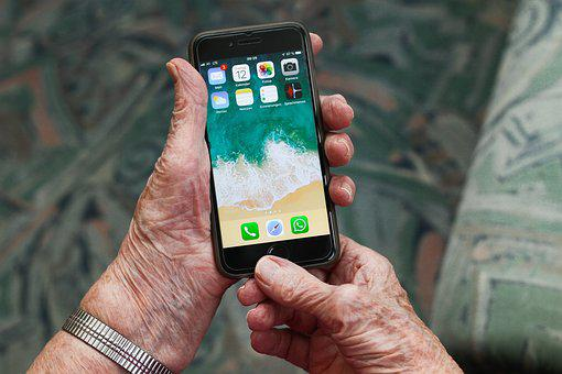Iphone, Grandmother, Mobile Phone, Communication
