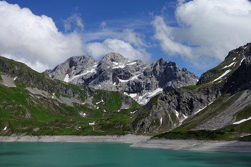 Luenersee, Bergsee, Mountains, Kirchlispitzen