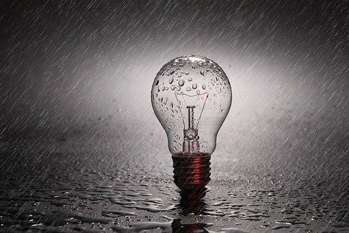 Lamp, Blue Light, Bulb, Drill, Opening, Idea