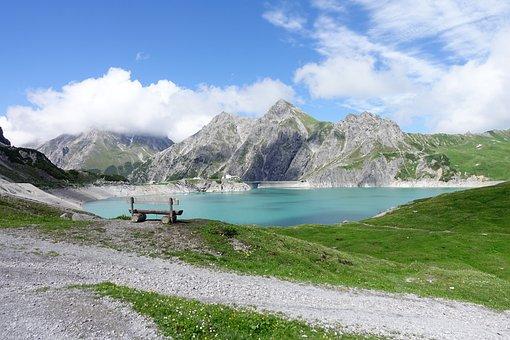 Luenersee, Bergsee, Mountains, Schafgafall, Rätikon