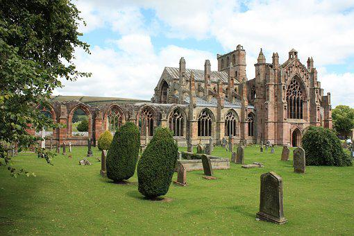Melrose Abbey, Scotland, Medieval, Ruin, Historical