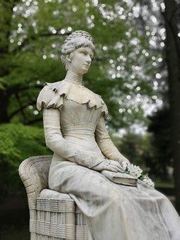 Statue, Elizabeth, Sculpture, Art, Marble, Merano