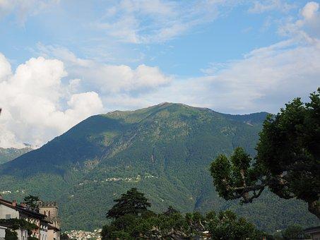 Ascona, View, Mountain, Landscape, Monte Gambarogno