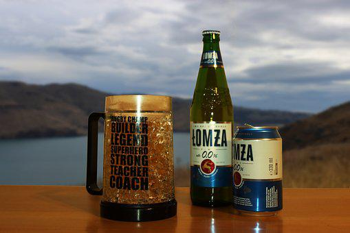 Beer, View, Glass, Mountains, Adventure, Drink