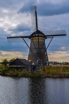 Mill, Netherlands, Kinderdijk, Wind Mill, Holland