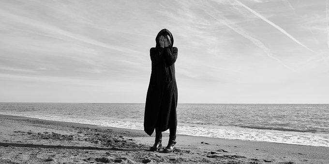 Sanar, Black And White, Portrait, Pose, Model