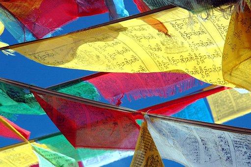 Prayer Flags, Tibet, Budism, Himalayan