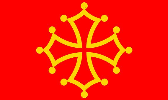 Midi, Pyrenees, Flag, Metropolitan Region, France