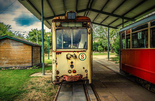 Tram, Old, Broken, Gleise, Rails, Transport, Traffic