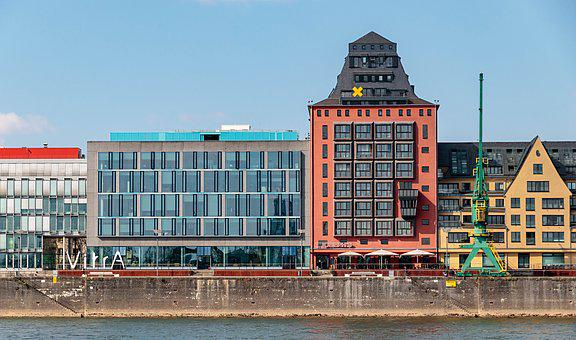 Cologne, Rhine, Germany, Architecture, Building, River