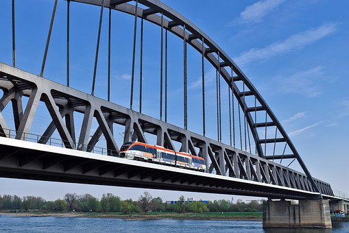 Bridge, Drawbridge, River, Architecture, Water, Rhine