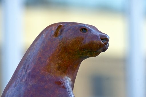 River King, River Otter, Sculpture, Statue, Figure
