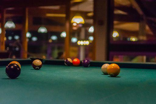 Billiards, Ball, Space, Table, French, American, Carpet