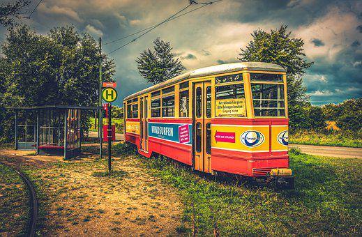 Tram, Stop, Transport, Rail Traffic, Traffic, Train