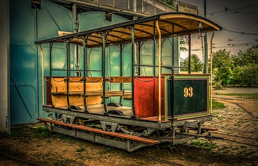 Dare, Wagon, Open, Benches, Railway, Gleise, Transport