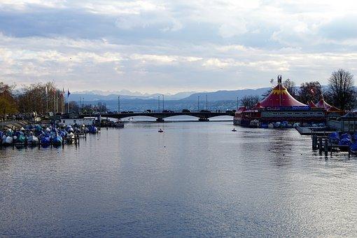 Zurich, Lake, Water, Switzerland