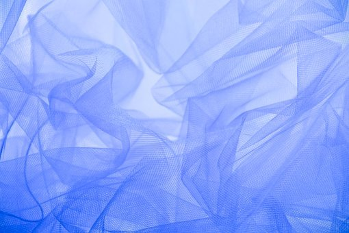 Texture, Fabric, The Structure Of The, Blue, Net, Wave