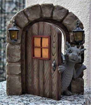 Dragon's Gate, Dragon, Window, Decoration, Archway