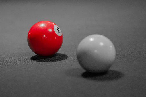 Ball, Billiards, Red, Carpet, Game, American, French