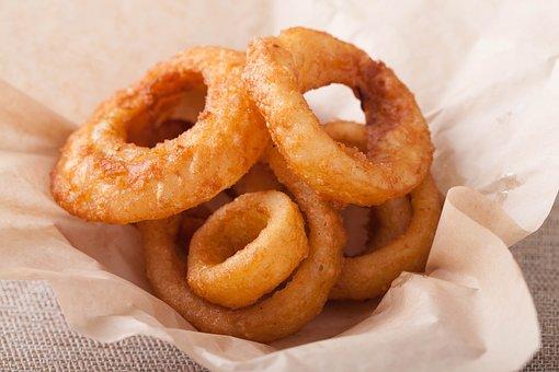 Fried Onion, Fried Food, Circle