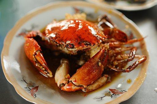 Crab, Food, Crab With Tamarind Sauce, Red Crab, Sea
