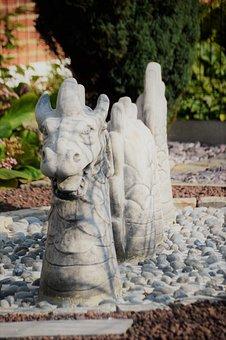 Dragon, Decoration, Ornament, Statue, Fantasy, Garden