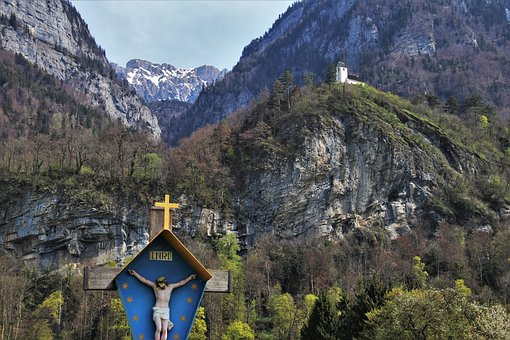 Easter, Jesus, Mountains, Rocks, High, Array, The Alps