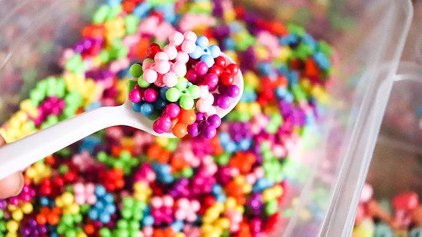 Beads, Marble, Jelly Beads, Colorful, Craft