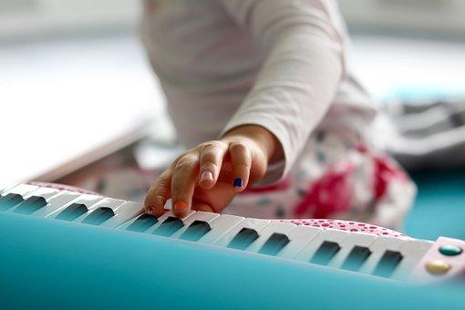 Child, Play, Piano, Joy, Keys, Music, Sing