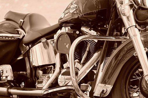 Harley Davidson, Motorcycle, Powerful Engine