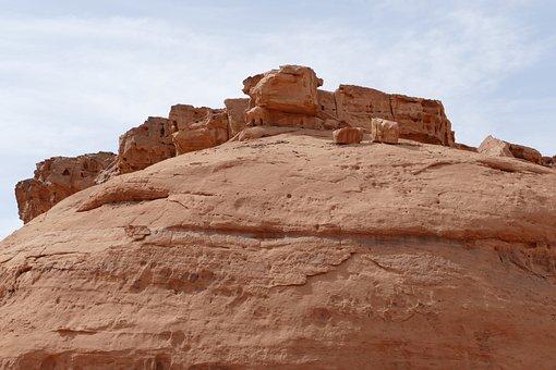 Jordan, Desert, Sand Stone, Sand, Landscape, Wadi