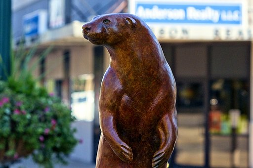 River Otter, River King, Sculpture, Statue, Figure