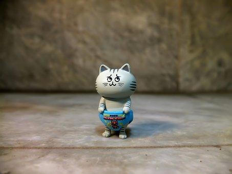 Cat, Pet, Domestic, Small, Cute, Hero, Funny, Japanese