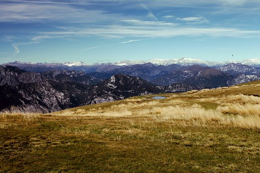 Monte Baldo, Italy, Garda Lake, Mountains, Snow, Summer