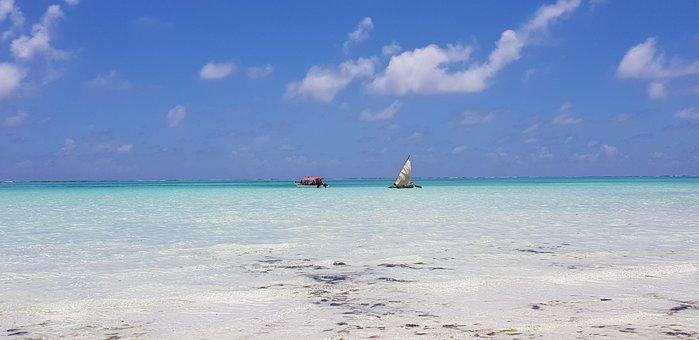 Sea, Ocean, Boat, Tanzania, Zanzibar