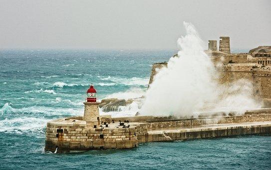 Weather, Strom, Architecture, Wind, City, Valletta
