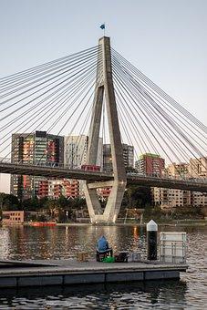 Bridge, Water, Architecture, City, Landscape, Landmark
