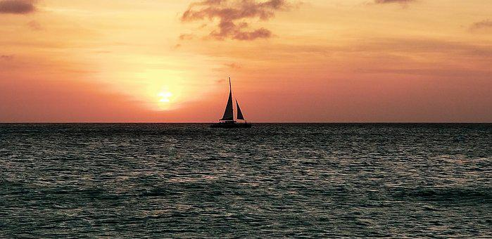 Sunset, Ocean, Aruba, Palm Beach, Sunset Cruise