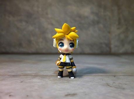 Kagamine, Len, Toy, Figurine, Small, Cute, Banpresto