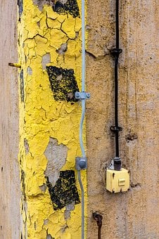 Yellow, Black, Wall, Limit, Cable, Light Switch