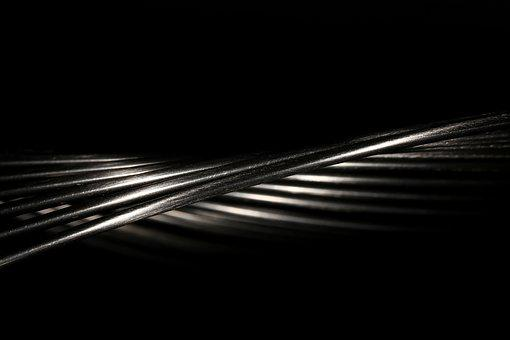 Wire, Bent, Chrome, Metal, Abstract, Black, Decoration