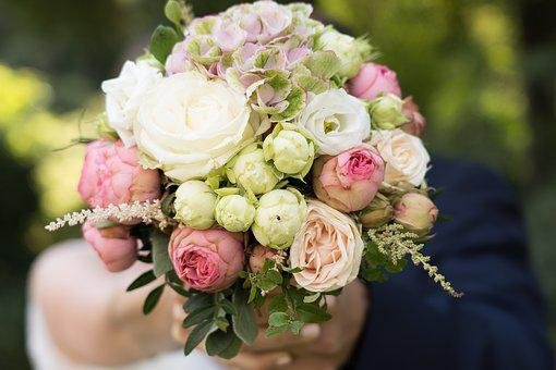 Wedding, Flowers, Bouquet, Roses, Floral, Marriage