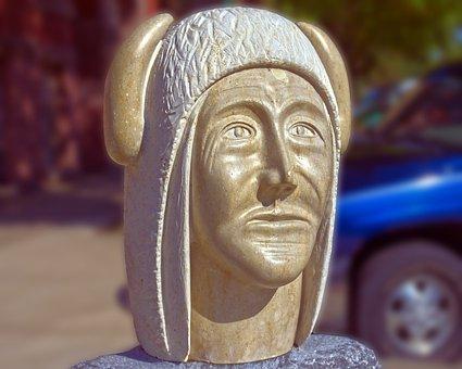 Buffalo Medicine Man, Sculpture, Bust, Statue, Figure