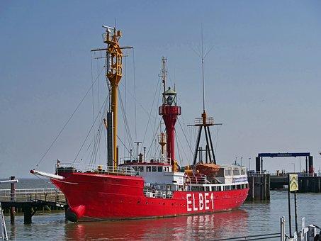 Lightship, Elbe1, Historically, Museum Ship, Cuxhaven