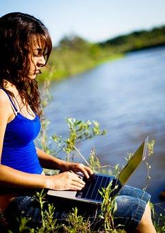 Nature, Work, Environment, Macbook, Girl, Laptop