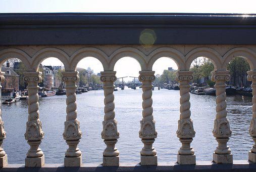 Amstedam, Canals, Water, Canal, Europe, City