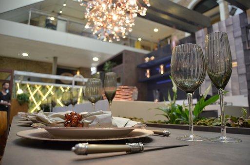 Dinner, Table, Bowls, Dishes, Gastronomy, Restaurant